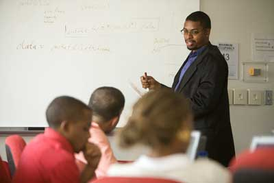 Prof Weatherspoon in Classroom Setting